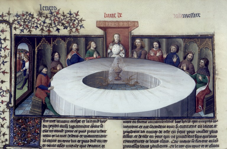 The Knights of the Round Table and the Apparition of the Holy Grail
