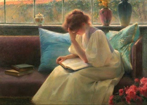 """Thoughtful Reader"" by Franz Dvorak (1862-1927)"